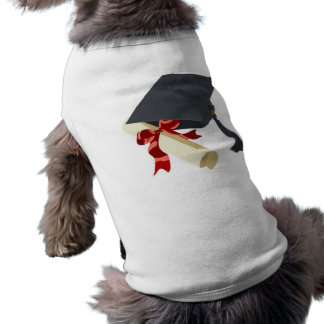 Graduation Cap & Diploma Sleeveless Dog Shirt