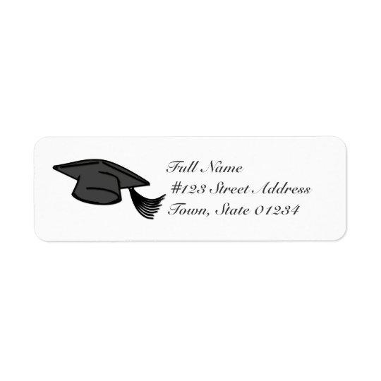 Graduation Cap Mailing Labels