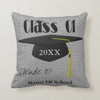 Graduation Cap Personalized Throw Pillow