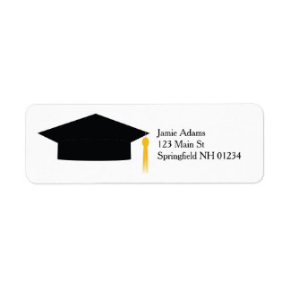 Graduation Cap Return Labels