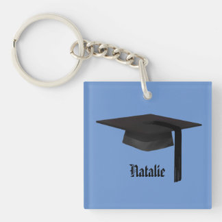 Graduation Cap Square (double-sided) Keychain