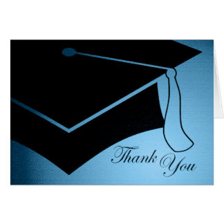 graduation cap : thank you greeting card