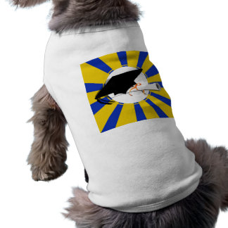 Graduation Cap Tilt W/ Blue & Gold School Colors Sleeveless Dog Shirt