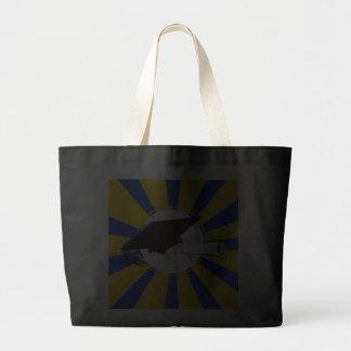 Graduation Cap Tilt W/ Blue & Gold School Colors Jumbo Tote Bag