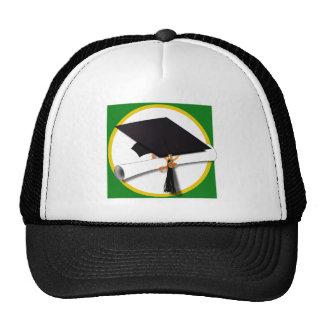 Graduation Cap w/Diploma - Green Background