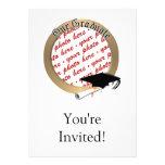 Graduation Cap w/Gold Frame (1) Personalized Invitation