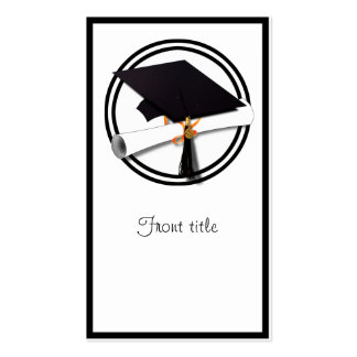 Graduation Cap with Black And White Circle Pack Of Standard Business Cards