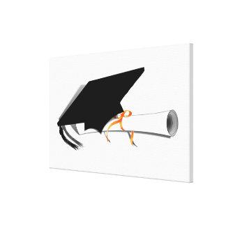 Graduation Cap With Diploma Gallery Wrap Canvas
