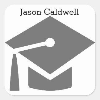 Graduation Cap with Name - Square Sticker