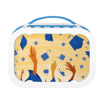 Graduation Caps in the Air Lunch Box