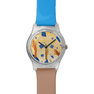 Graduation Caps in the Air Wristwatch