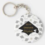 Graduation Caps Keychain