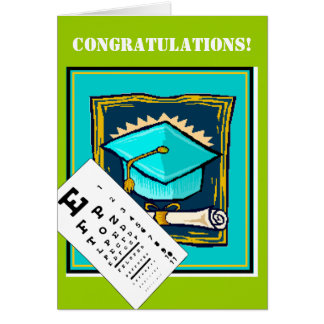 Graduation card -Optometrist/Opthamologist