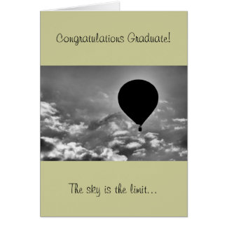 Graduation Card with Hot Air Balloon