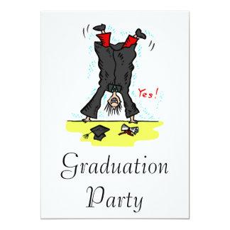 Graduation Cartwheel 13 Cm X 18 Cm Invitation Card