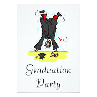 Graduation Cartwheel 13 Cm X 18 Cm Invitation Card