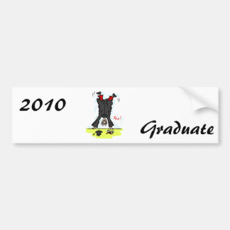 Graduation Cartwheel Car Bumper Sticker