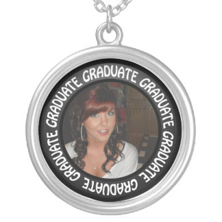 Graduation Chalkboard Circle Add Your Photo Pendant