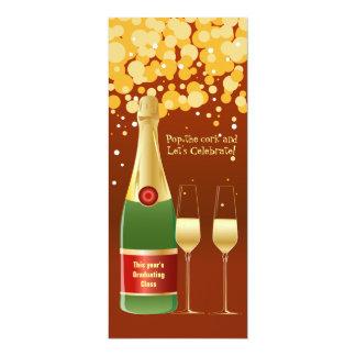 Graduation Champagne Toast Invitation