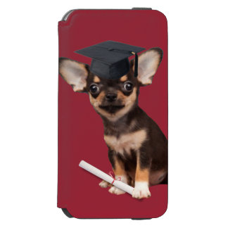 Graduation Chihuahua dog Incipio Watson™ iPhone 6 Wallet Case