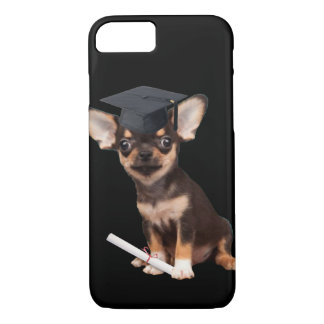 Graduation Chihuahua dog iPhone 7 Case