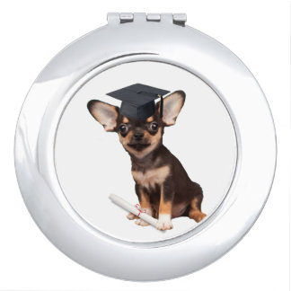 Graduation Chihuahua dog Mirror For Makeup