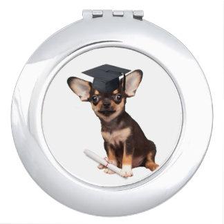 Graduation Chihuahua dog Mirror For Makeup