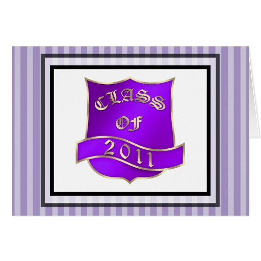 Graduation Class 2011 Thank You Note Greeting Cards