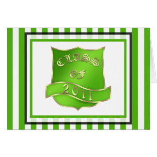 Graduation Class 2011 Thank You Note Greeting Card