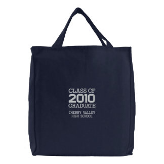 Graduation Class of 2010 - Embroidered Student Bag Embroidered Bag