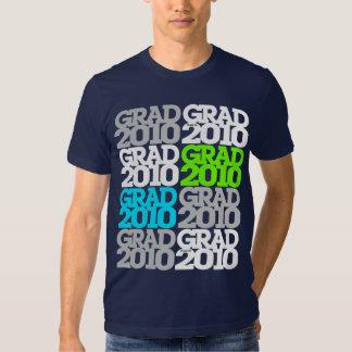 Graduation Class Of 2010 Green Pattern T-Shirt