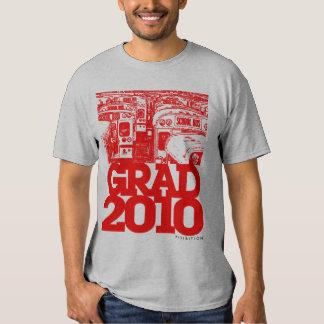 Graduation Class Of 2010 School Bus Red T-Shirt