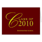 Graduation Class of 2010 - School Colours Cards