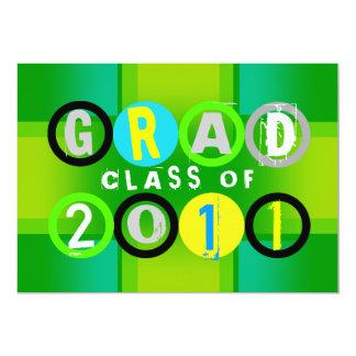Graduation Class Of 2011 Circle Green Invitation