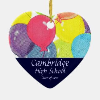 Graduation Class of 2011 Keepsake Ceramic Heart Decoration