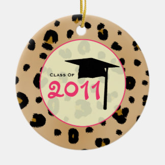 Graduation Class of 2011 Leopard Print & Pink Christmas Ornament