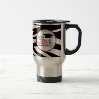 Graduation Class Of 2011 Zebra Print Stainless Steel Travel Mug