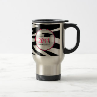 Graduation Class Of 2011 Zebra Print Travel Mug