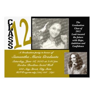 Graduation Class of 2012 Gold Custom Invitations
