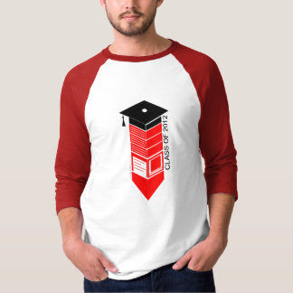 Graduation Class Of 2012 Pencil Cap Red T-Shirt