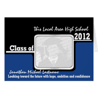 Graduation Class of 2012 Photo Black Card