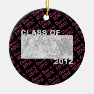 Graduation - Class of 2012 - Pink and Black Christmas Ornaments