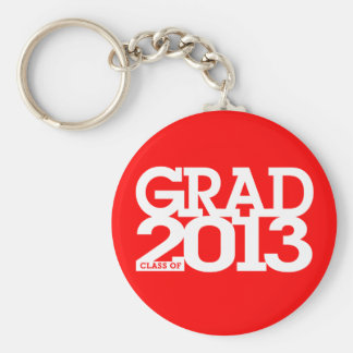 Graduation Class Of 2013 Keychain Red 1