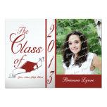 Graduation Class of 2013 Photo Red 13 Cm X 18 Cm Invitation Card