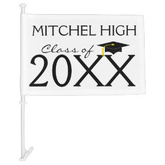 Graduation Class Of 20XX Car Flag