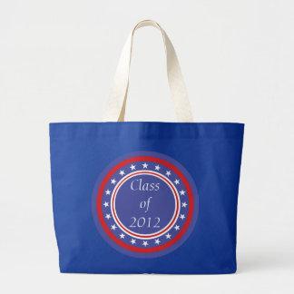 Graduation Class - Patriotic Stars and Stripes Jumbo Tote Bag