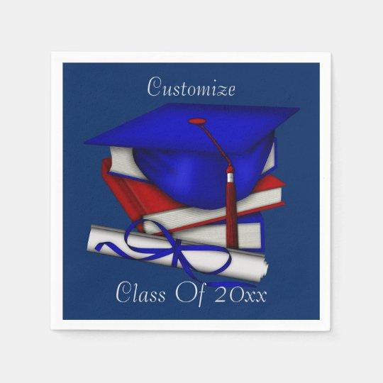 Graduation & Class Reunion Cap & Diploma Napkins Disposable Serviette