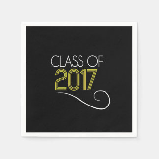 Graduation Cocktail Napkins - 2017 Disposable Serviette