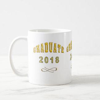 Graduation Coffee Mug Faux Gold Script