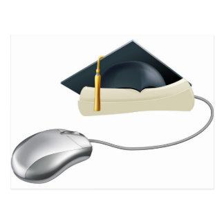 Graduation computer mouse concept post cards